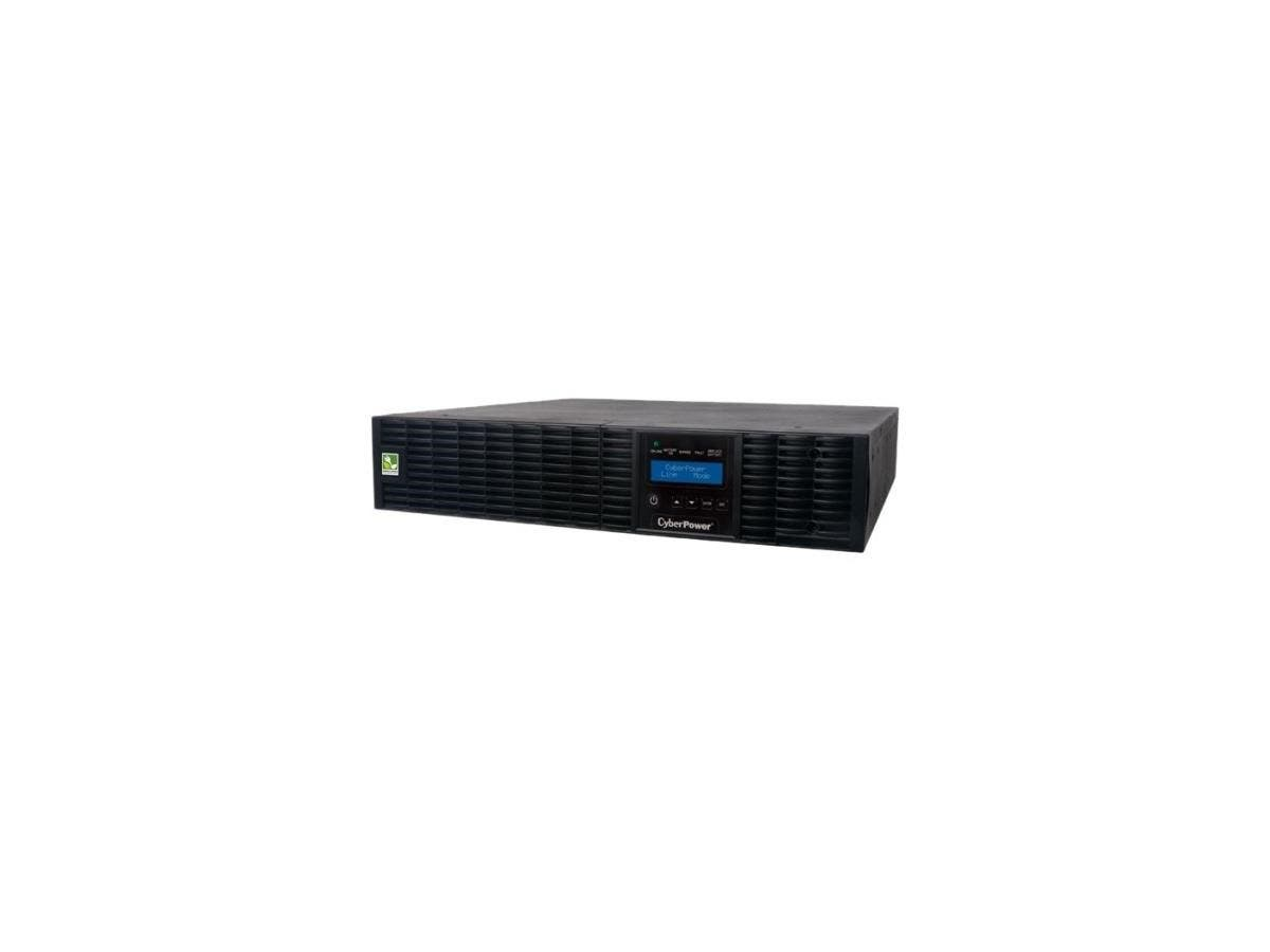 CyberPower Smart App Online OL2200RTXL2U 2200VA 100-125V Pure Sine Wave LCD Rack/Tower UPS - 2200 VA/1800 W - 125 V AC, 125 V AC - 6 Minute - 2U Tower/Rack Mountable - 6 Minute - 1 x NEMA L5-20R, 6 x -Large-Image-1