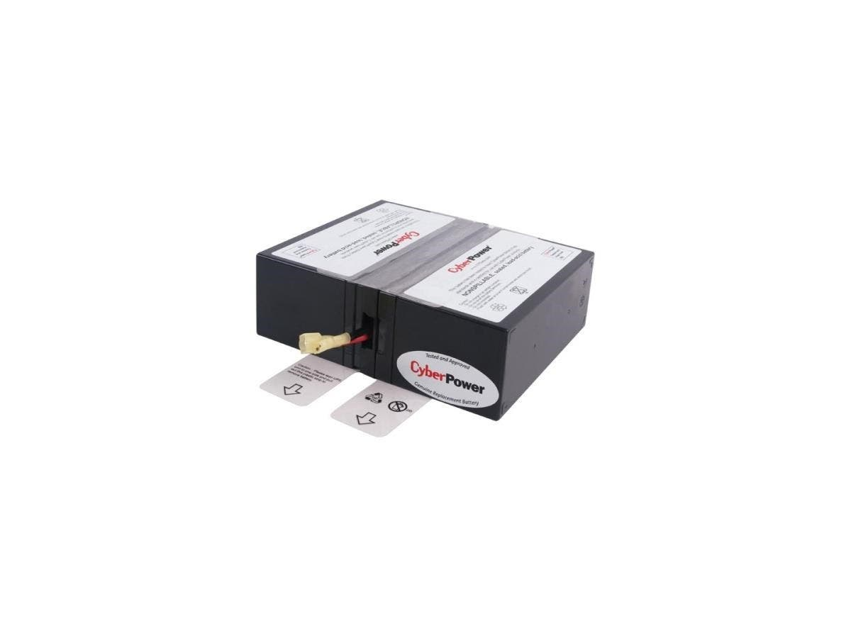 CyberPower RB1280X2A UPS Replacement Battery Cartridge - 8Ah - 12V DC - Maintenance-free Sealed Lead Acid-Large-Image-1