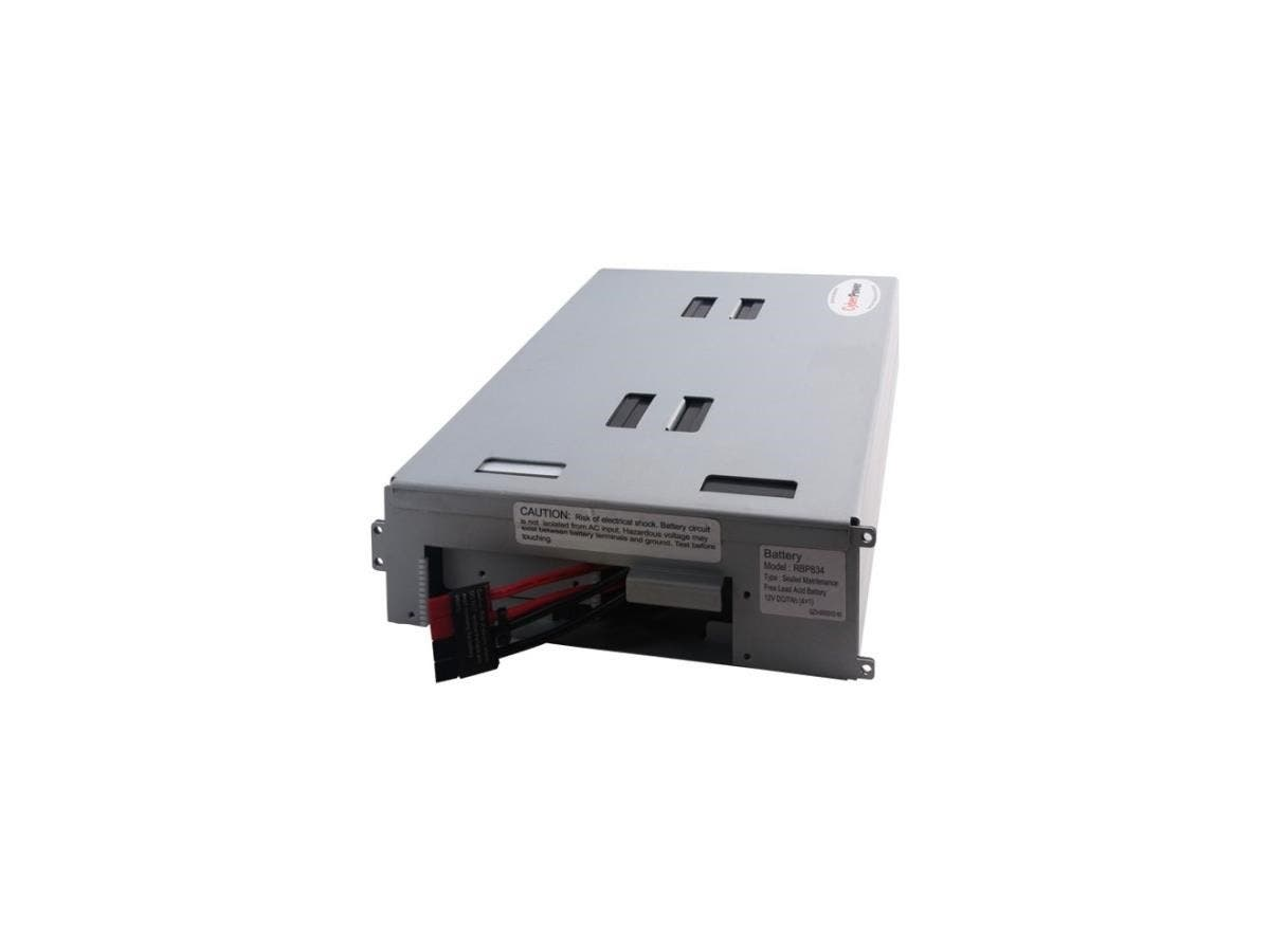 CyberPower RB1270X4B UPS Replacement Battery Cartridge - 7Ah - 12V DC - Maintenance-free Sealed Lead Acid-Large-Image-1