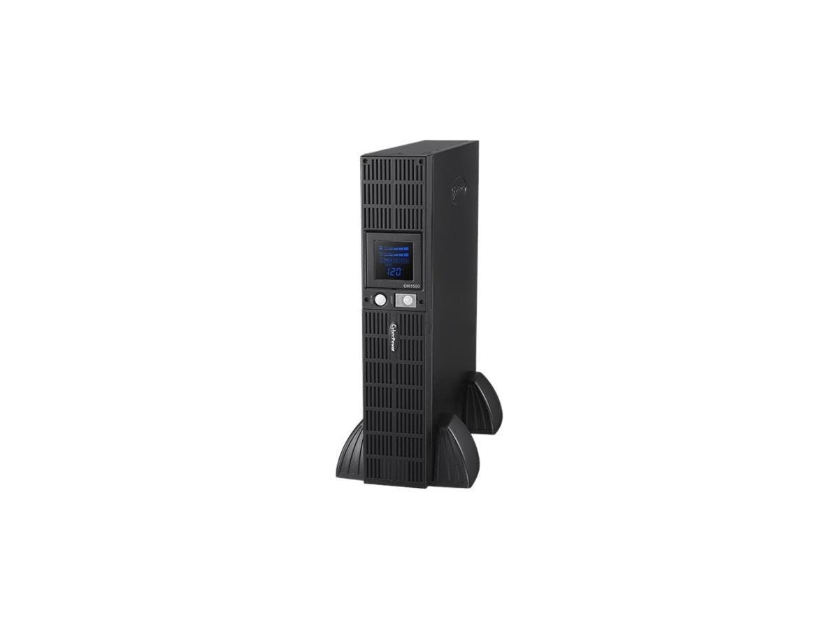 CyberPower Smart App Intelligent LCD OR1500LCDRT2U 1500VA UPS LCD RT - 1500 VA/900 W - Tower/Rack Mountable - 6 Minutes Full Load - 8 x NEMA 5-15R-Large-Image-1