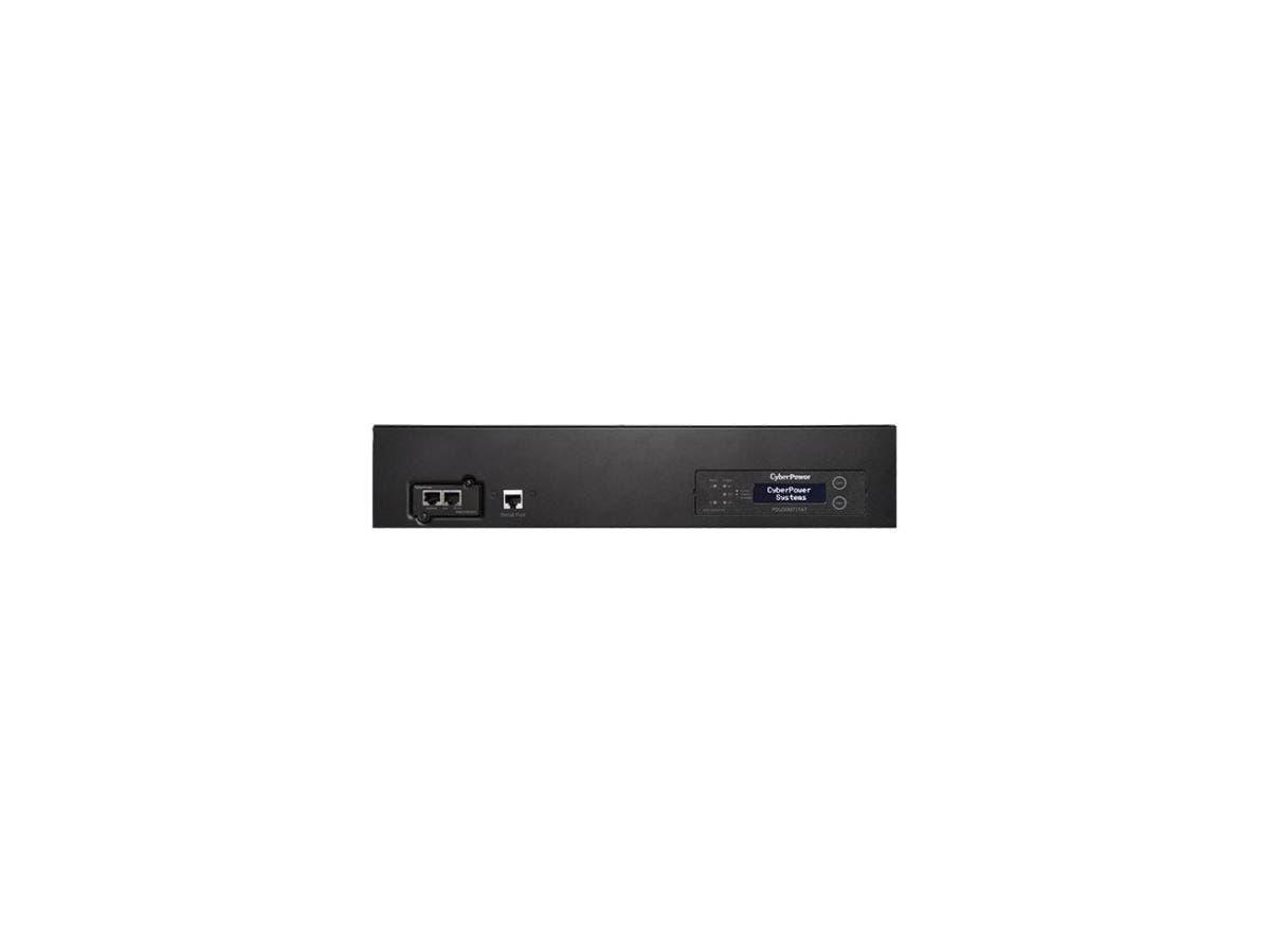 CyberPower PDU30MT17AT Metered ATS PDU 120V 30A 2U 17-Outlets (2) L5-30P - 16 x NEMA 5-20R, 1 x NEMA L5-30R - Network (RJ-45) - 2U - Horizontal Rackmount-Large-Image-1