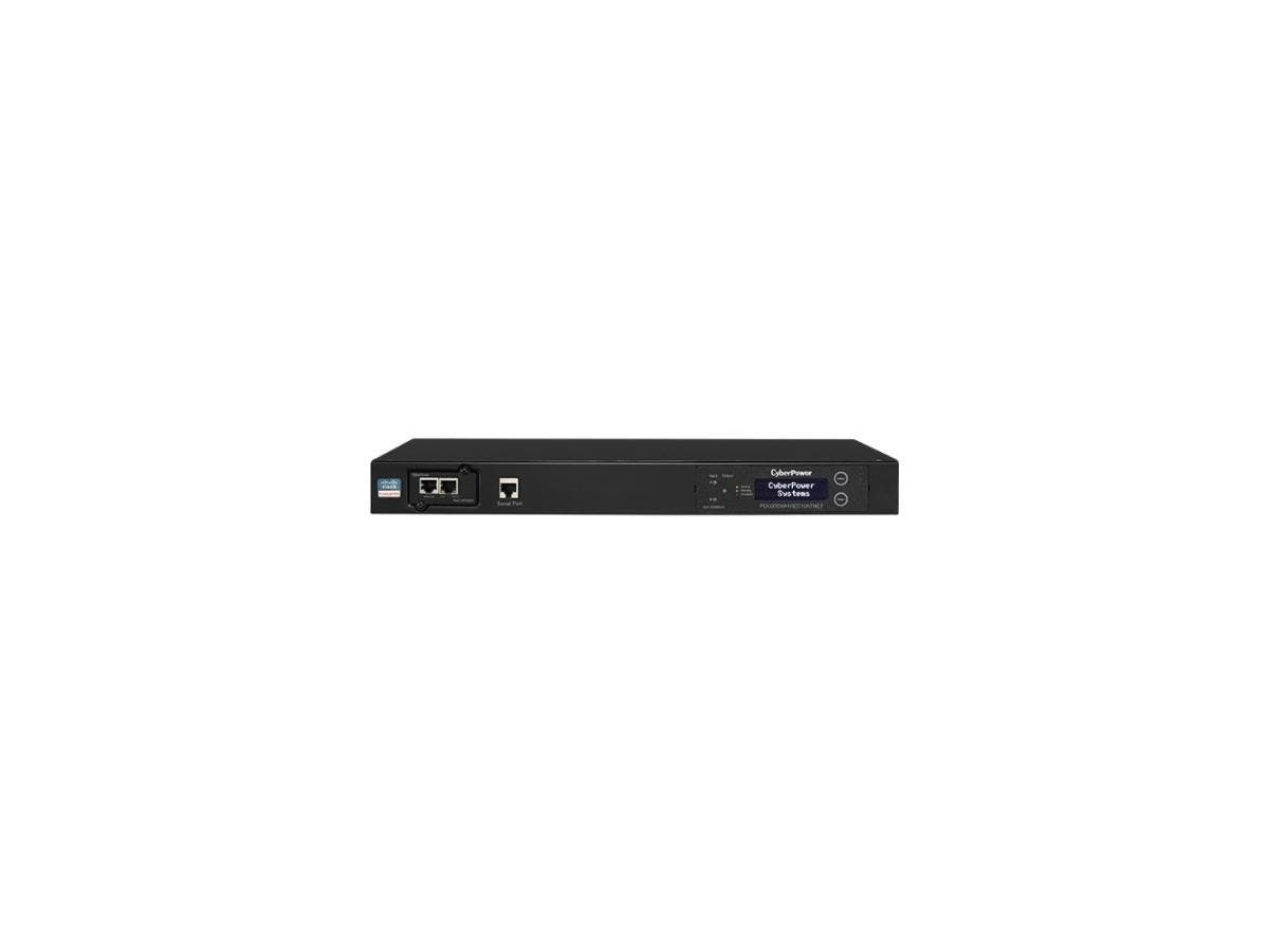 CyberPower PDU20SWHVIEC10ATNET Switched ATS PDU 200-240V 20A 1U 10-Outlets (2) IEC C20 - 8 x IEC 60320 C13, 2 x IEC 60320 C19 - 1U - Rack-mountable-Large-Image-1
