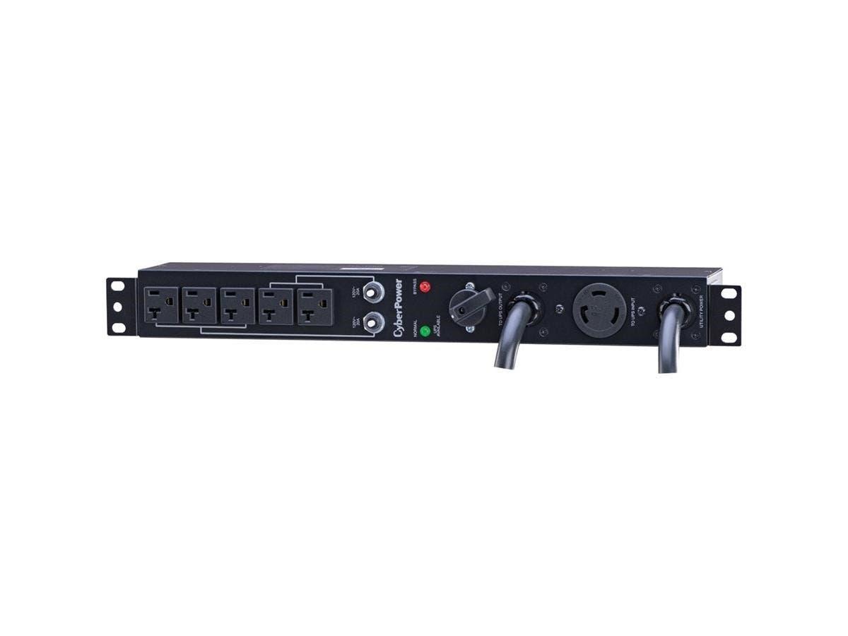 CyberPower Maintenance Bypass MBP30A5 - NEMA L5-30P - 5 x NEMA L5-30R - 120 V AC - 1URack-mountable-Large-Image-1