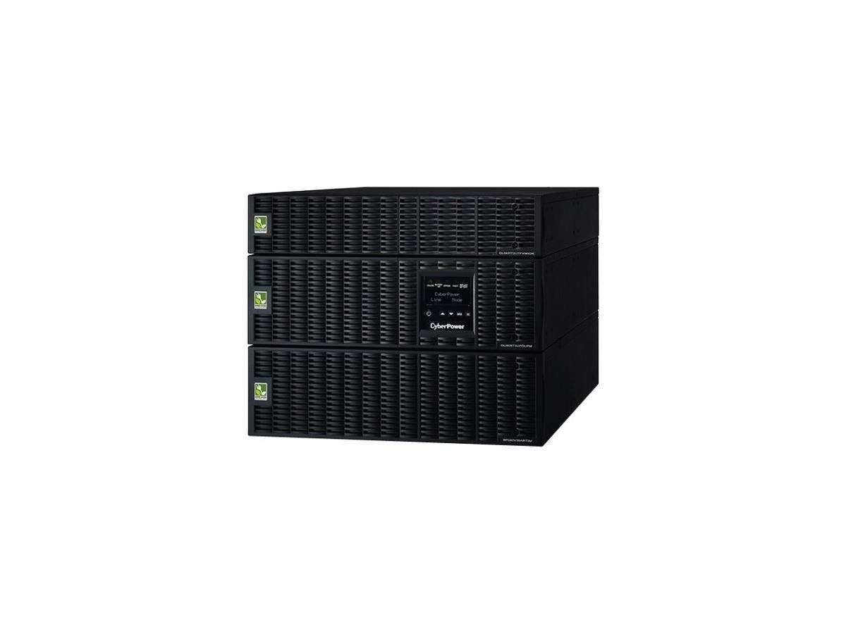 CyberPower OL6000RT3UPDUTF 6KVA Online UPS TF 8U Maintenance Bypass HW 120/208V RT 3YR WTY - 6000 VA/5400 W - 120 VAC, 200-240 VAC - 5 Minute - 8U Tower/Rack Mountable - 5 Minute - 6 x NEMA 5-20R - , -Large-Image-1