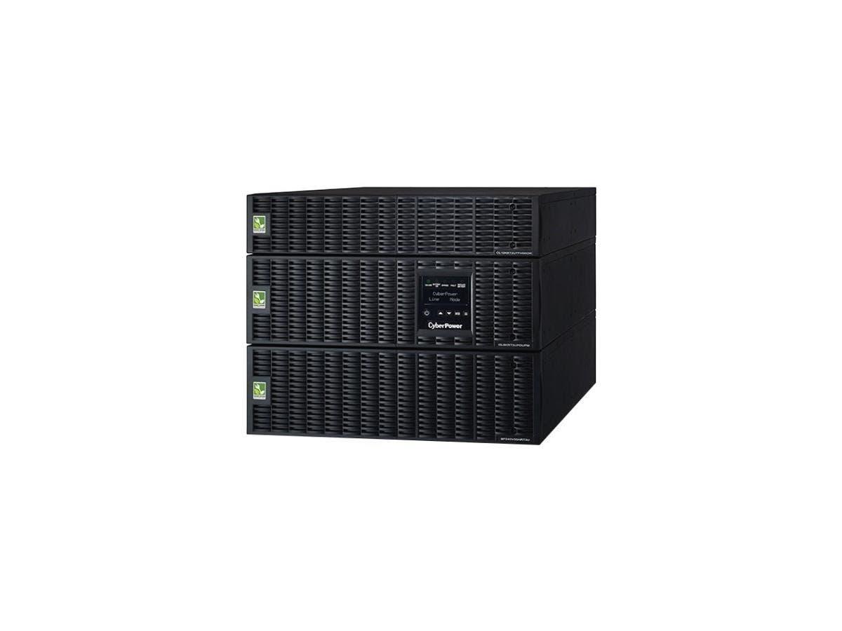CyberPower OL8000RT3UPDUTF 8KVA Online UPS TF 8U Maintenance Bypass HW 120/208V RT 3YR WTY - 8000 VA/7200 W - 120 VAC, 200-240 VAC - 6 Minute - 8U Tower/Rack Mountable - 6 Minute - 6 x NEMA 5-20R - , -Large-Image-1