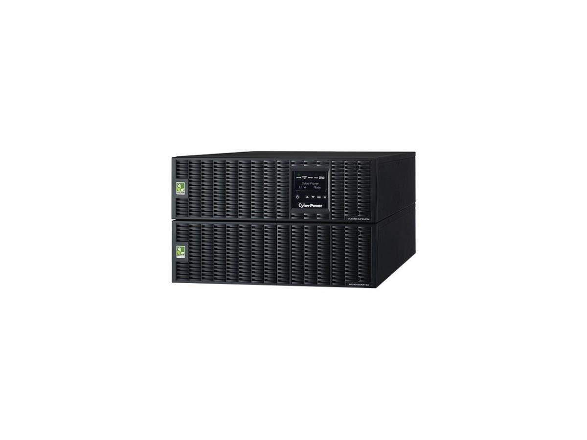 CyberPower OL8KRT3UHW 8KVA Online UPS 6U Maintenance Bypass HW-I/O Only 200-240V RT 3YR - 8000 VA/7200 W - 200-240 VAC - 6 Minute - 6U Tower/Rack Mountable - 6 Minute - 1 x Terminal Block-Large-Image-1