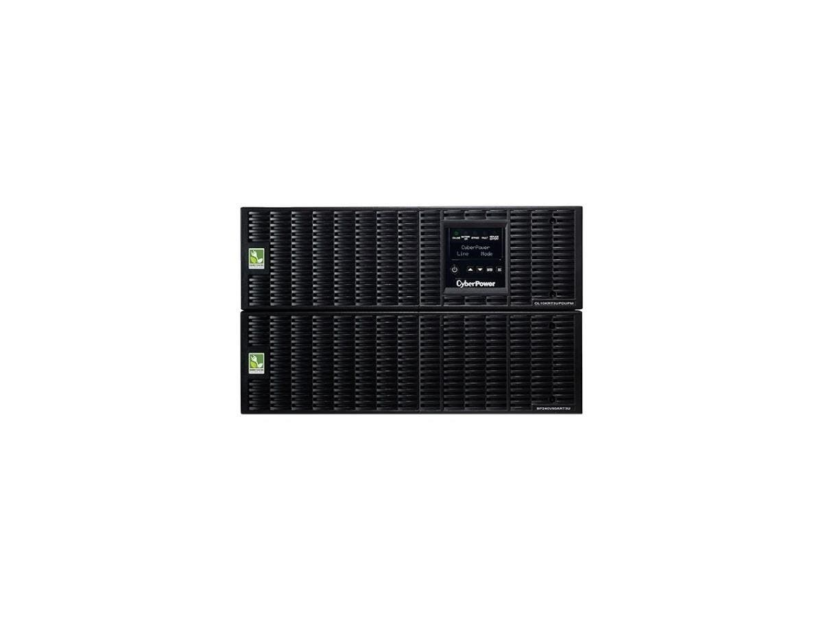 CyberPower OL10000RT3UPDU 10KVA Online UPS 6U Maintenance Bypass HW-I/O 200-240V RT 3YR WTY - 10000 VA/9000 W - 200-240 VAC - 4 Minute - 6U Tower/Rack Mountable - 4 Minute - 2 x NEMA L6-20R - , 4 x NE