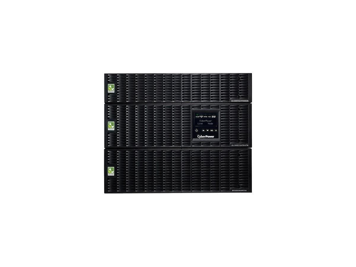CyberPower OL10000RT3UPDUTF 10KVA Online UPS TF 8U Maintenance Bypass HW 120/208V RT 3YR WTY - 10000 VA/9000 W - 120 VAC, 200-240 VAC - 4 Minute - 8U Tower/Rack Mountable - 4 Minute - 6 x NEMA 5-20R --Large-Image-1