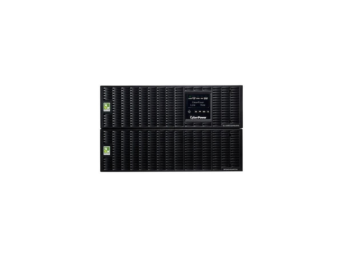 CyberPower OL10KRT3UHW 10KVA Online UPS 10U Maintenance Bypass HW-I/O Only 200-240V RT 3YR - 10000 VA/9000 W - 200-240 V AC - 4 Minute - 6U Tower/Rack Mountable - 4 Minute - 1 x Terminal Block