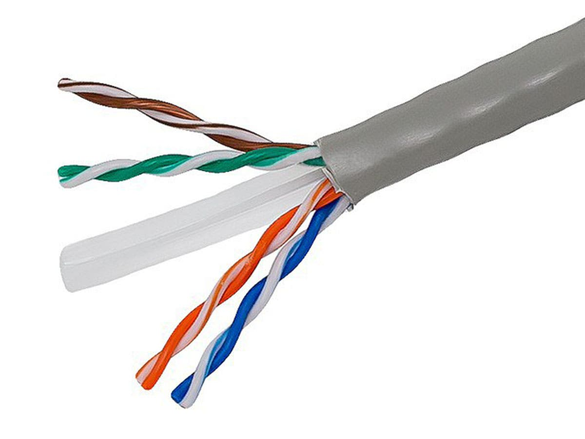 Monoprice Cat6 Ethernet Bulk Cable - Stranded, 550Mhz, UTP, Pure ...