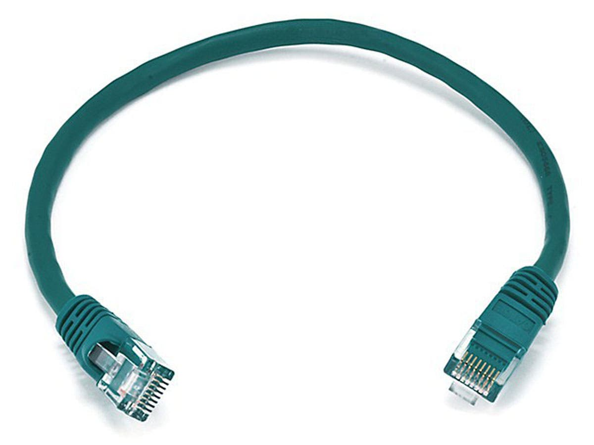 Cat6 24AWG UTP Ethernet Network Patch Cable, 1ft Green