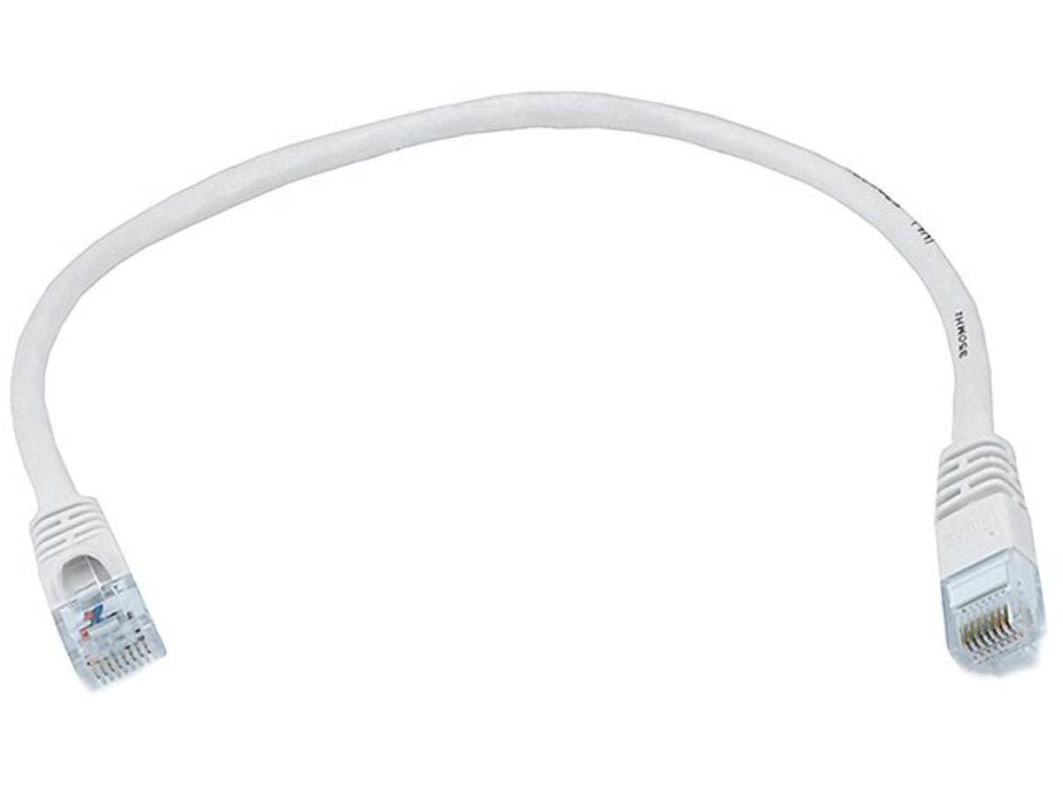 Cat6 24AWG UTP Ethernet Network Patch Cable, 1ft White