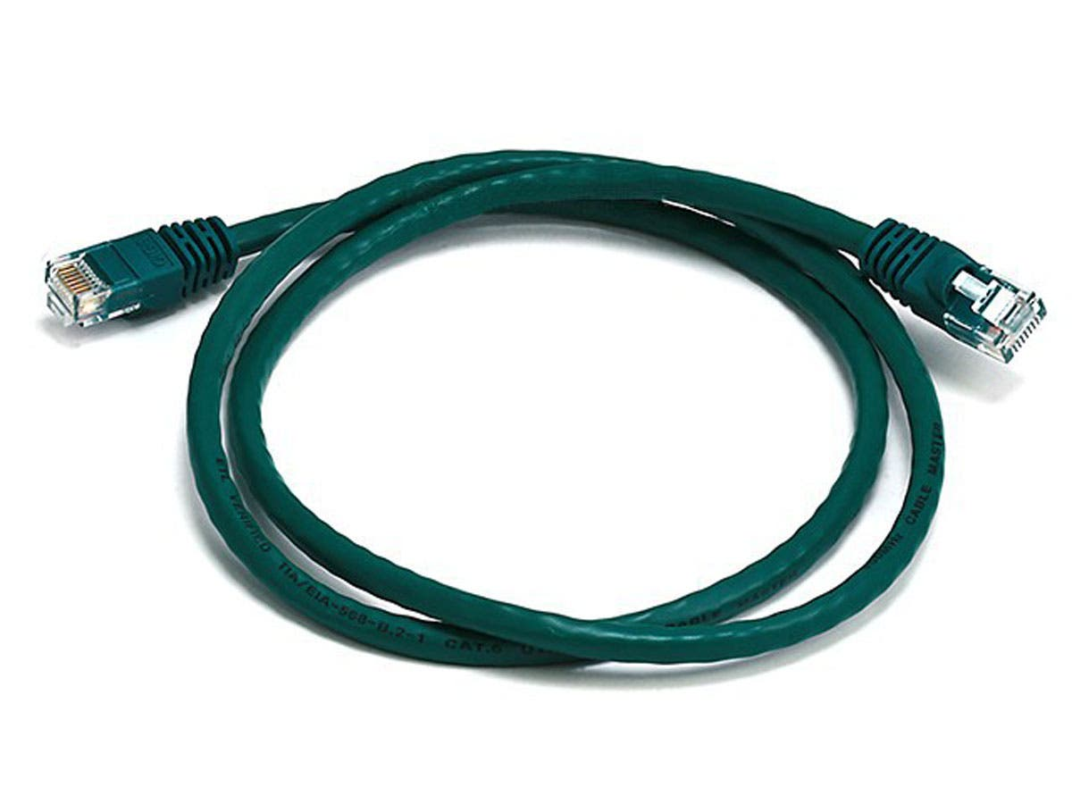 Cat6 24AWG UTP Ethernet Network Patch Cable, 3ft Green