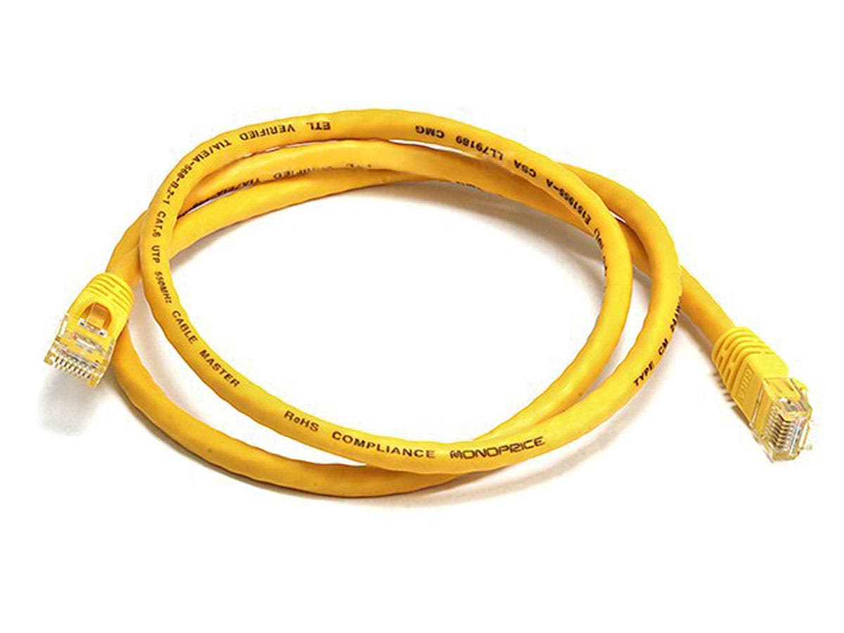 Cat6 24AWG UTP Ethernet Network Patch Cable, 3ft Yellow