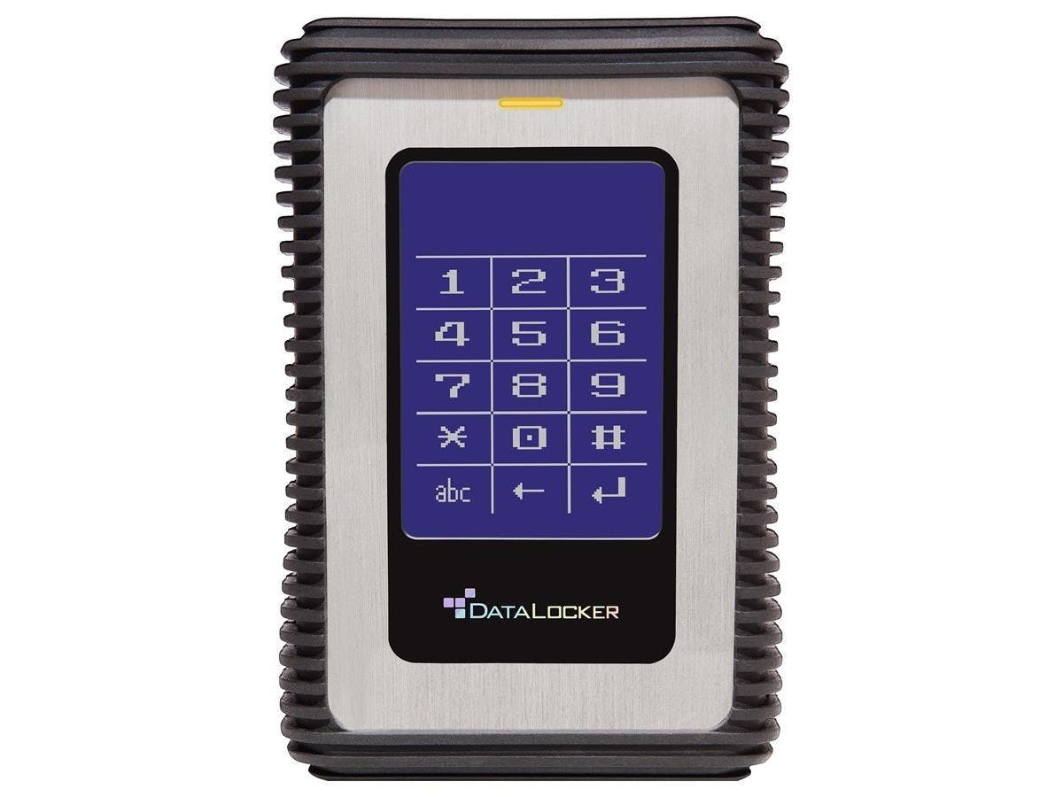 DataLocker DL3 1 TB Encrypted External Hard Drive - USB 3.0 External HDD with AES XTS Mode Hardware Data Encryption 1TB