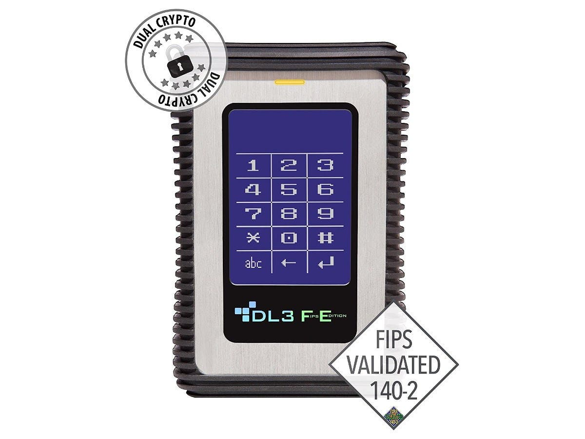 DataLocker DL3 FE (FIPS Edition) 500 GB Encrypted External Hard Drive with RFID Two-Factor Authentication - FIPS Validated External USB 3.0 HDD with AES/CBC+XTS Mode Data Encryption 500GB w/RFID