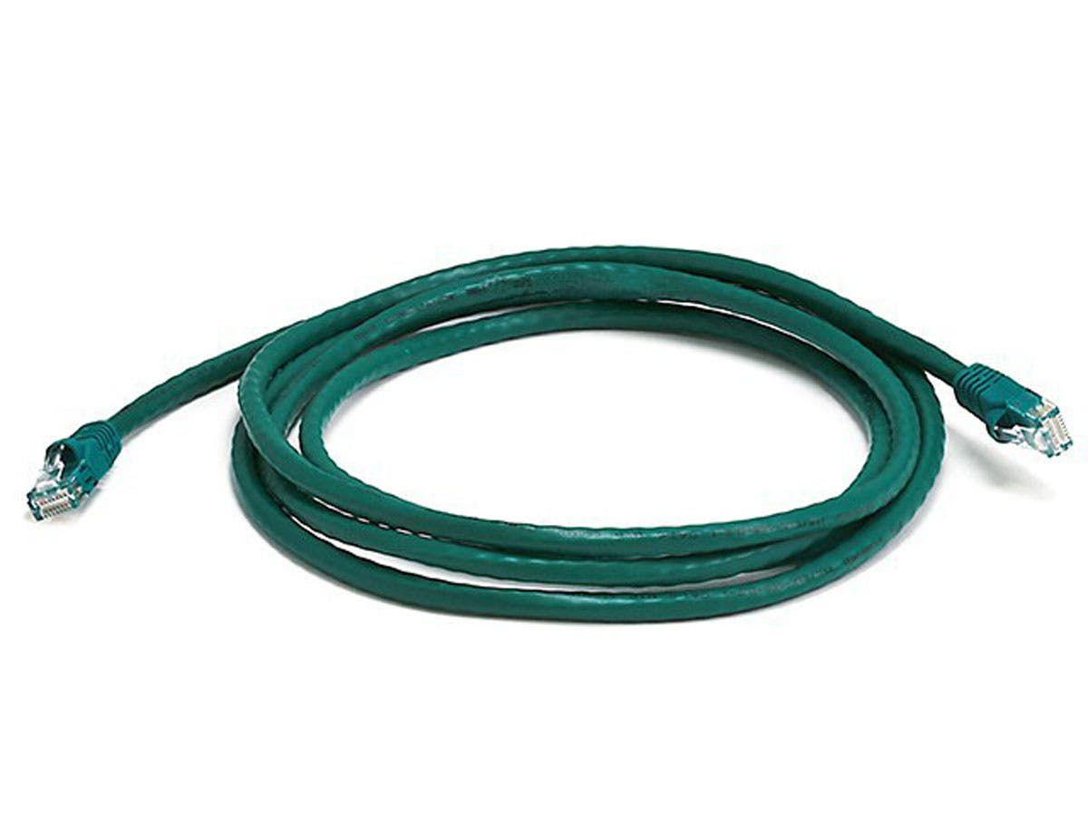 Cat6 24AWG UTP Ethernet Network Patch Cable, 7ft Green