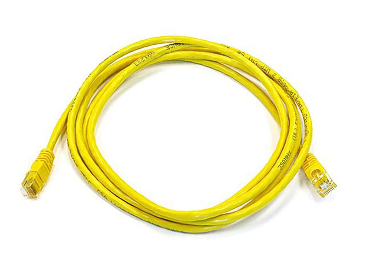 Cat6 24AWG UTP Ethernet Network Patch Cable, 7ft Yellow
