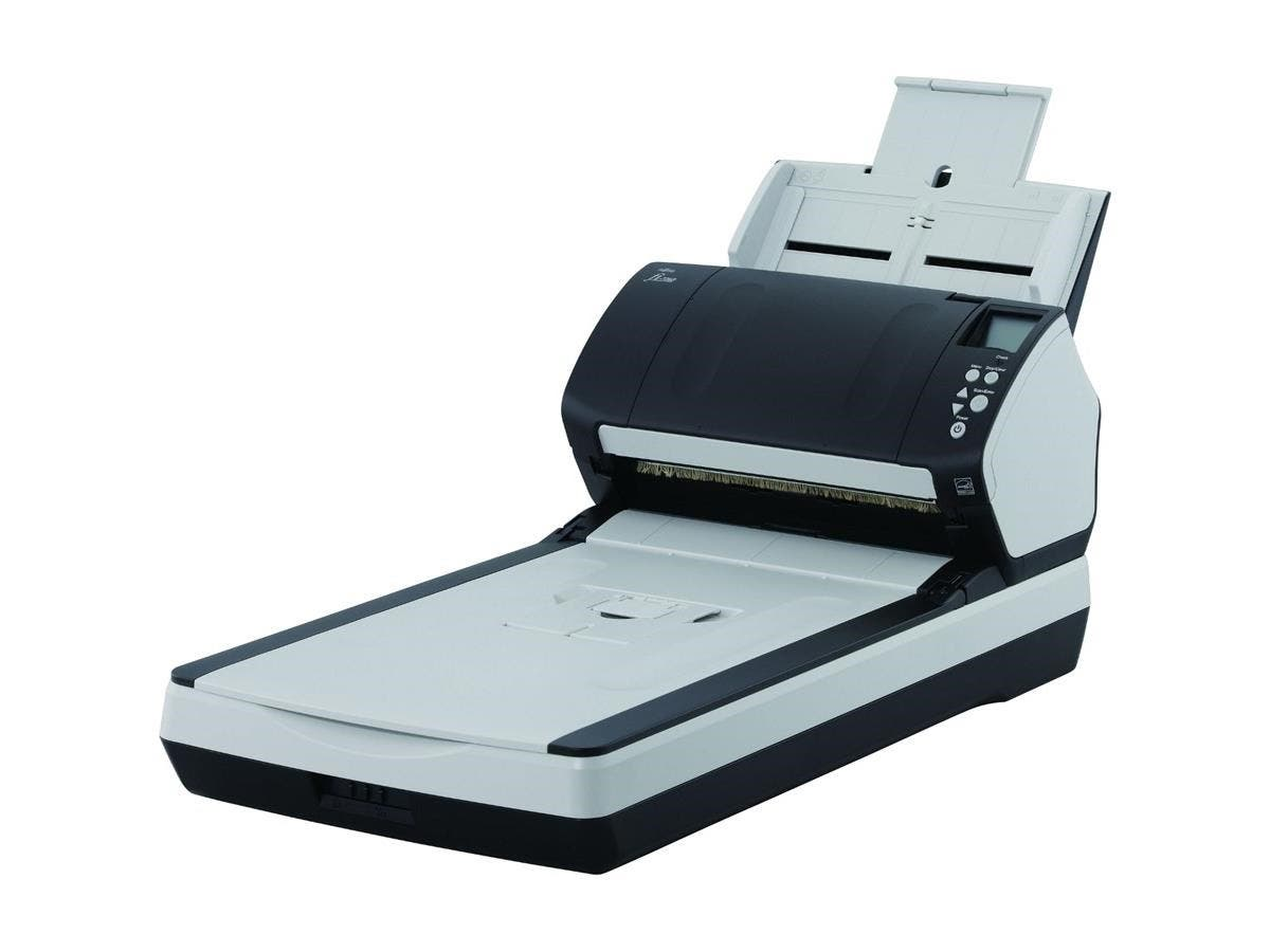Fujitsu Fi-7280 Sheetfed/Flatbed Scanner - 600 dpi Optical - 24-bit Color - 8-bit Grayscale - 80 - 80 - USB-Large-Image-1