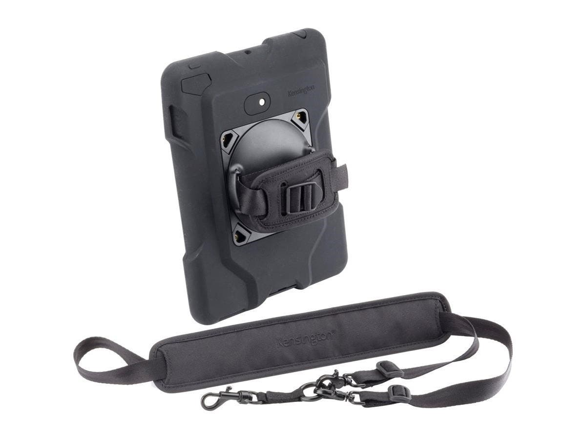 Kensington SecureBack K67832WW Carrying Case for iPad - Black - Drop Resistant Interior - Neoprene - Hand Strap, Shoulder Strap-Large-Image-1