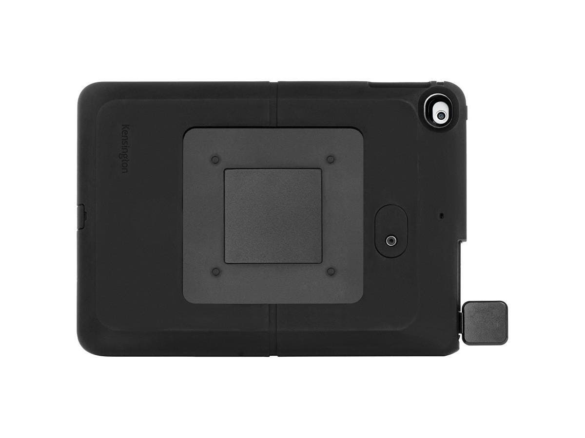 Kensington SecureBack Rugged Payments Enclosure For iPad Air/iPad Air 2 - Black - iPad Air, iPad Air 2 - Black - Rubberized - Rubber