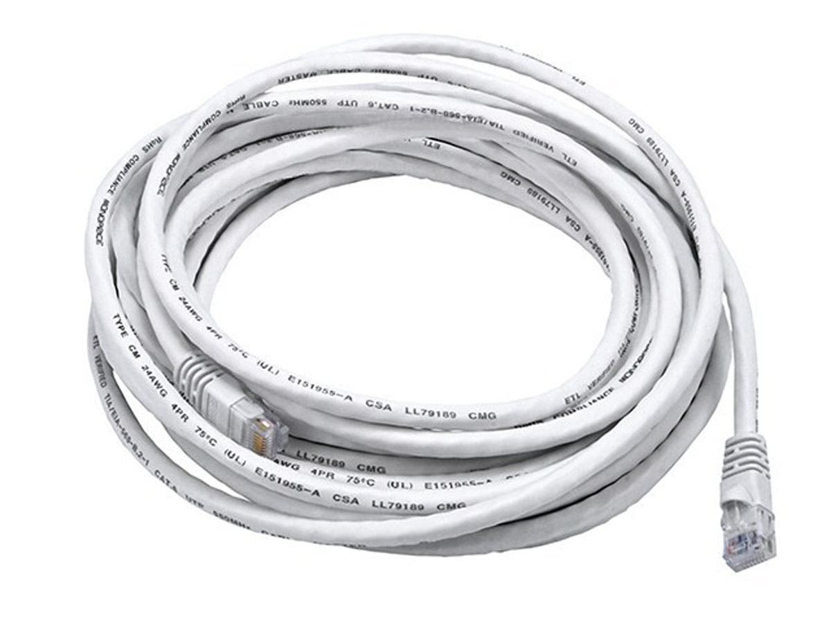 Cat6 24AWG UTP Ethernet Network Patch Cable, 25ft White