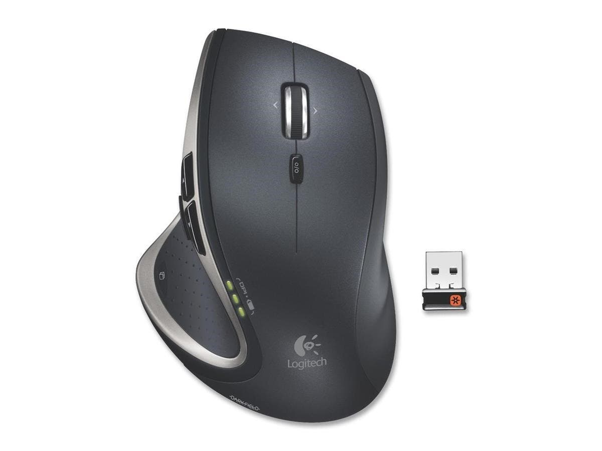 Logitech MX Performance Mouse - Laser - Wireless - Radio Frequency - Black - Retail - USB - Scroll Wheel - Right-handed Only-Large-Image-1