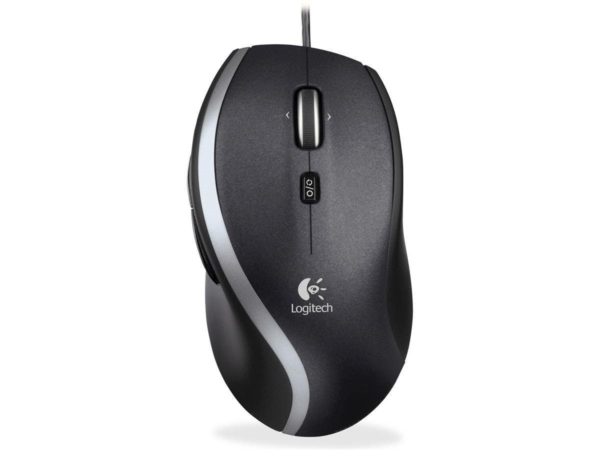 Logitech Corded Mouse M500 - Laser - USB - Black, Gray - Retail