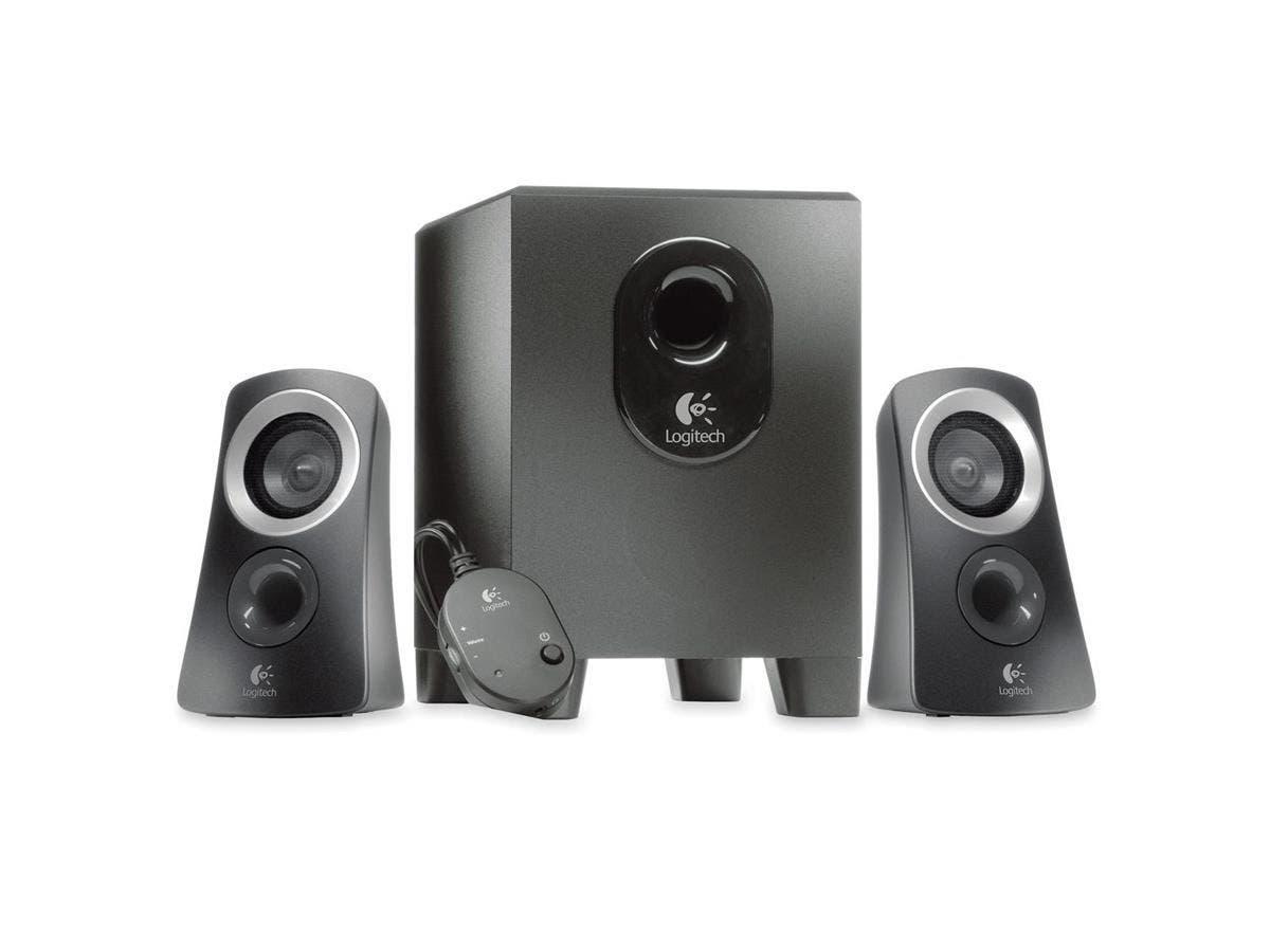 Logitech Z313 2.1 Speaker System - 25 W RMS - Black - 48 Hz - 20 kHz-Large-Image-1