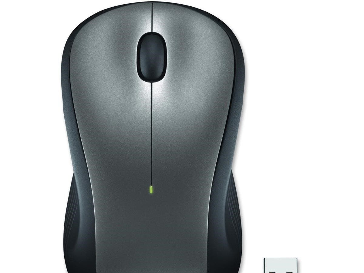 Logitech M310 Wireless Mouse - Laser - Wireless - Radio Frequency - Silver - USB - 1000 dpi - Computer - Scroll Wheel - 3 Button(s) - Symmetrical-Large-Image-1
