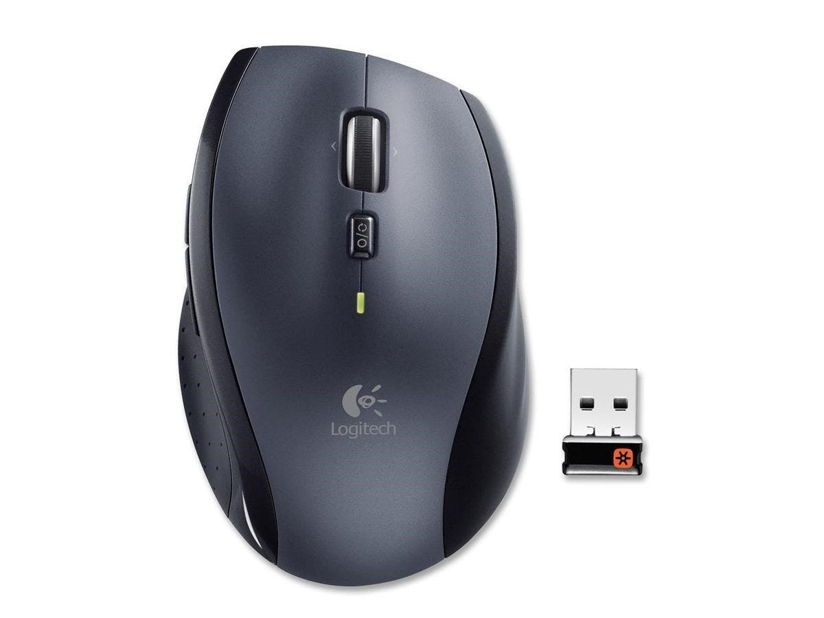 Logitech M705 Mouse - Laser - Wireless - Silver - USB - 1000 dpi - Computer - Scroll Wheel - 8 Button(s)-Large-Image-1