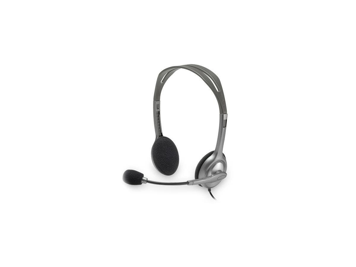 Logitech H110 Headset - Stereo - Mini-phone - Wired - 20 Hz - 20 kHz - Over-the-head - Binaural - 6 ft Cable - Noise Cancelling Microphone-Large-Image-1