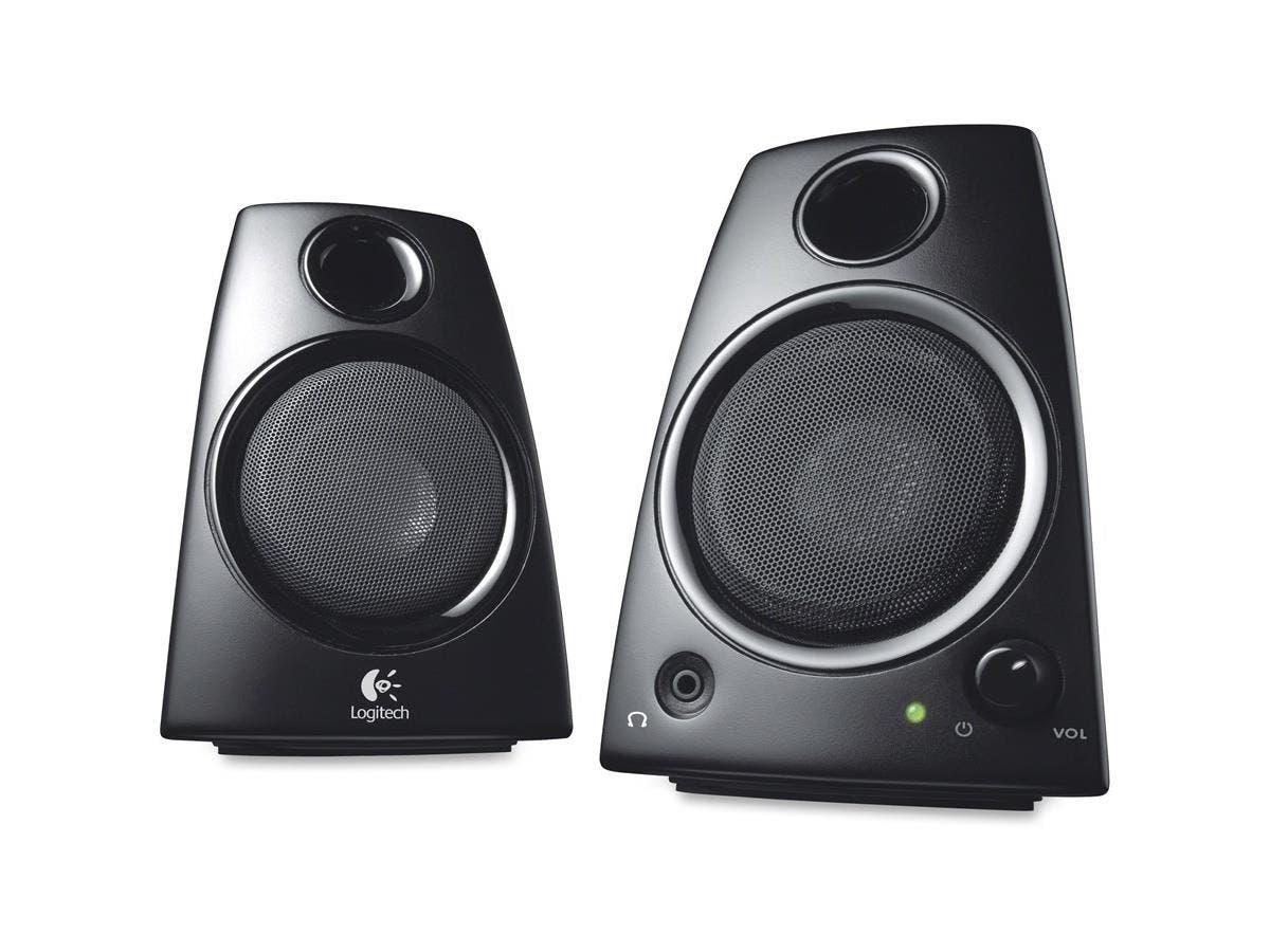 Logitech Z130 2.0 Speaker System - 5 W RMS - Desktop - Black - Volume Control-Large-Image-1