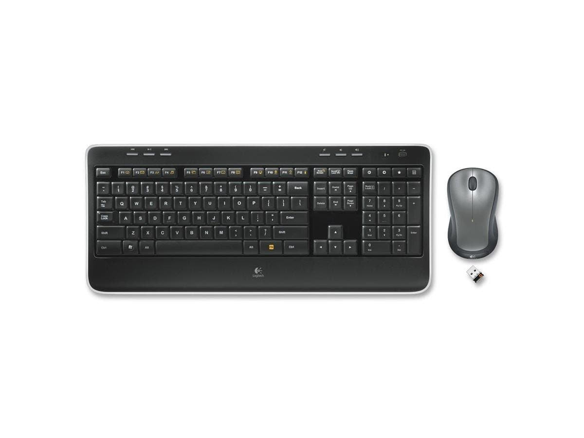 Logitech MK520 Keyboard and Mouse - USB Wireless RF Keyboard - USB Wireless RF Mouse - Laser - Scroll Wheel (PC)