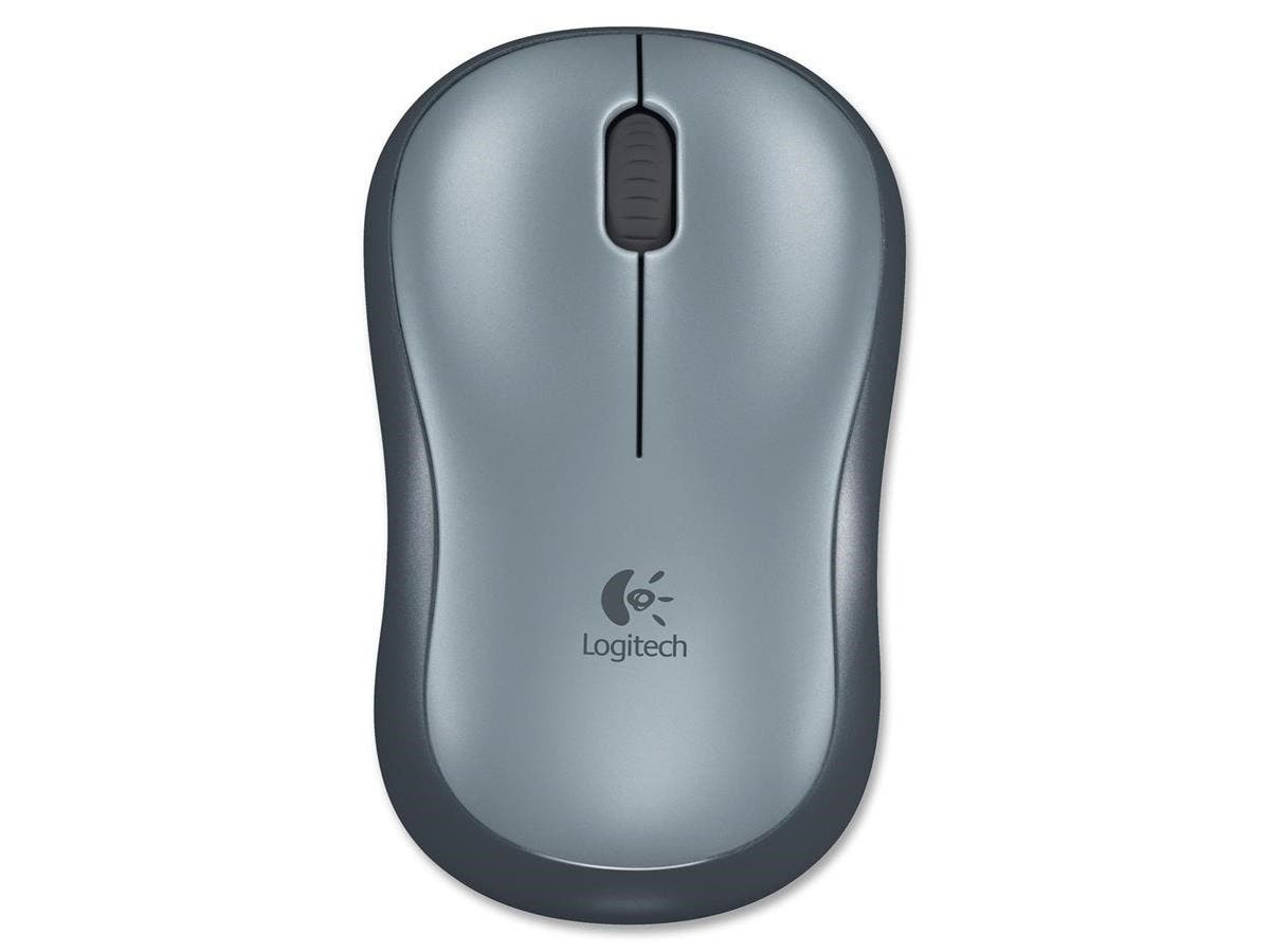Logitech M185 Mouse - Optical - Wireless - Radio Frequency - Silver - USB - 1000 dpi - Computer - Scroll Wheel - 3 Button(s) - Symmetrical