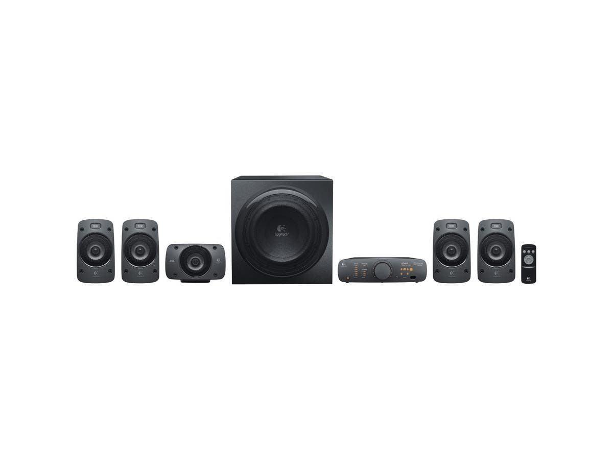 Logitech Z906 5.1 Speaker System - 500 W RMS - DTS, Dolby Digital, 3D Sound - iPod Supported-Large-Image-1