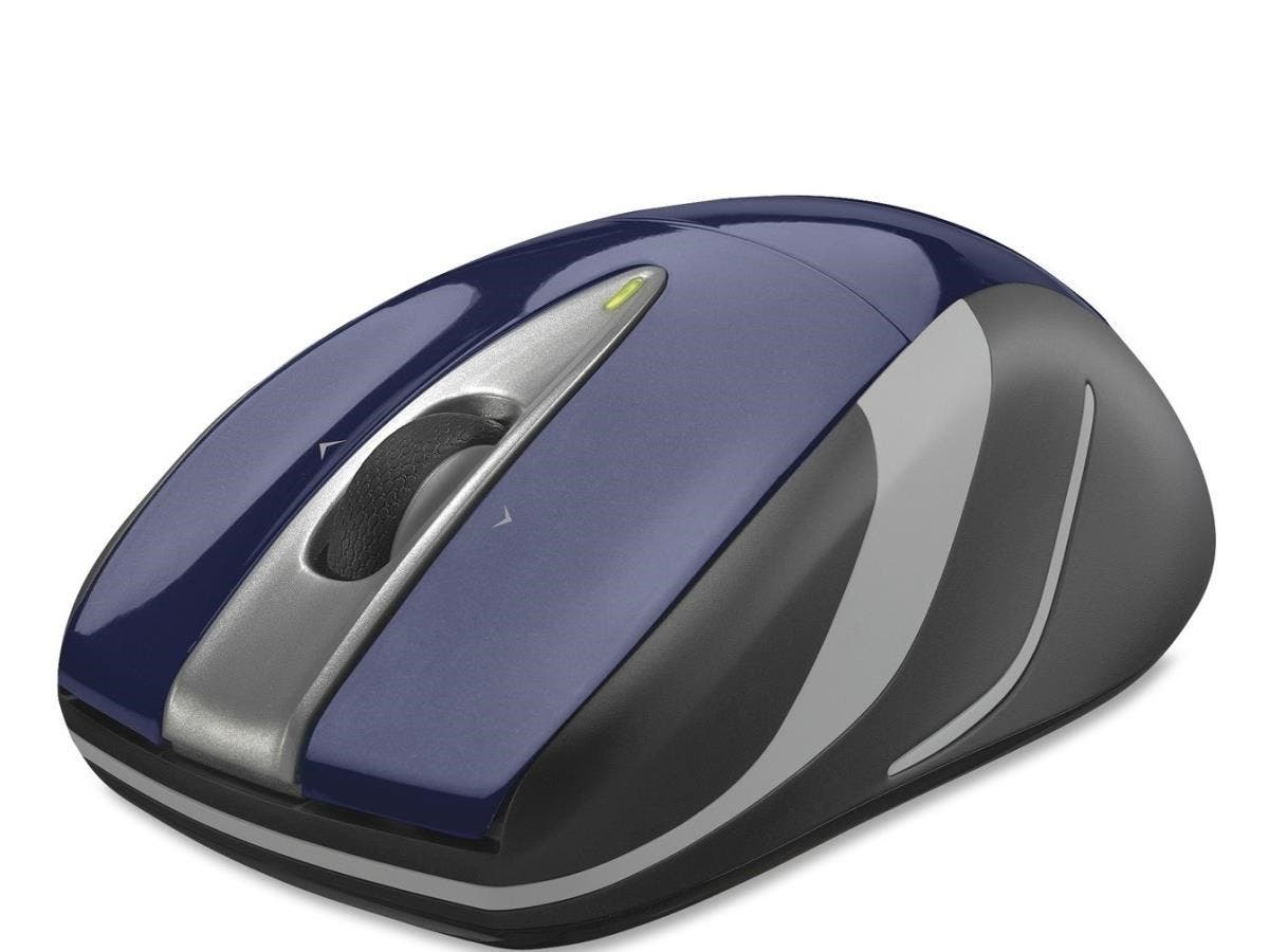Logitech Wireless Mouse M525 - Optical - Wireless - Radio Frequency - Blue, Black - USB - 1000 dpi - Computer - Scroll Wheel - 3 Button(s) - Symmetrical-Large-Image-1
