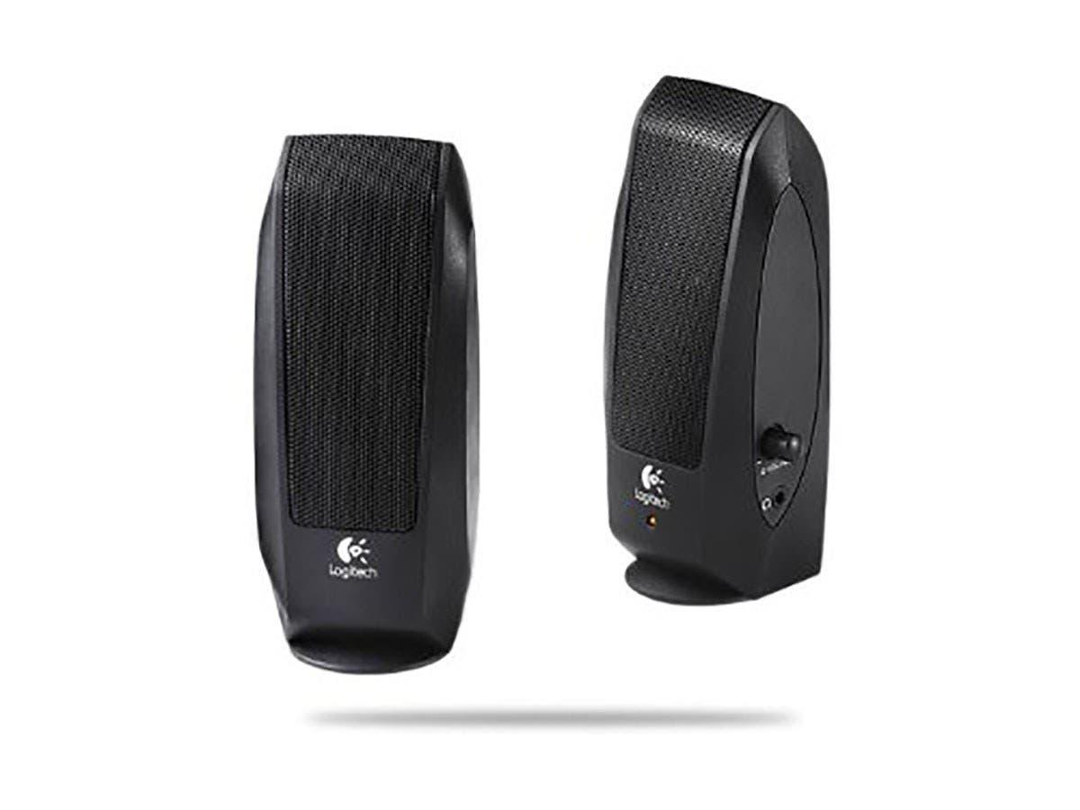 Logitech S-120 2.0 Speaker System - 2.3 W RMS - Black - 50 Hz - 20 kHz-Large-Image-1