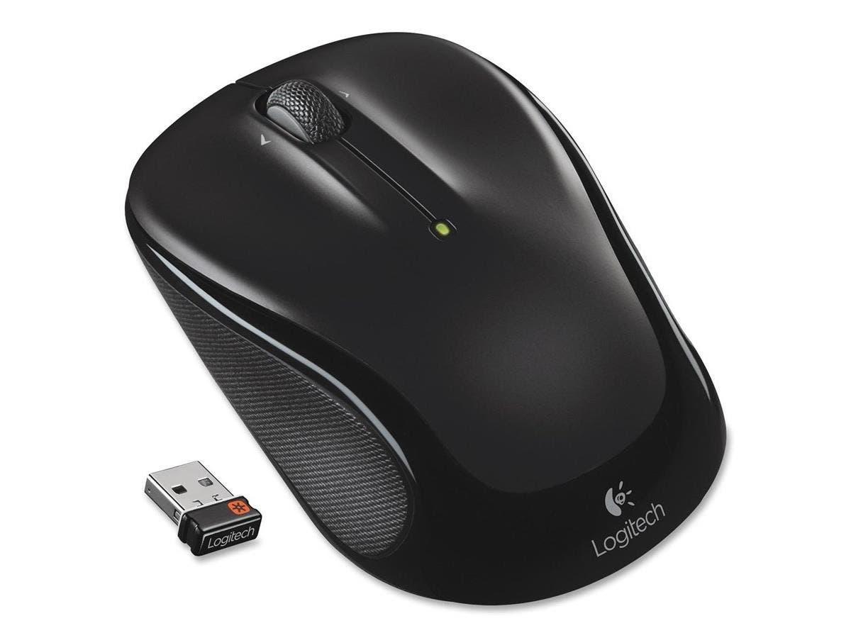 Logitech Wireless Mouse M325 - Optical - Wireless - Radio Frequency - Black - USB - Scroll Wheel