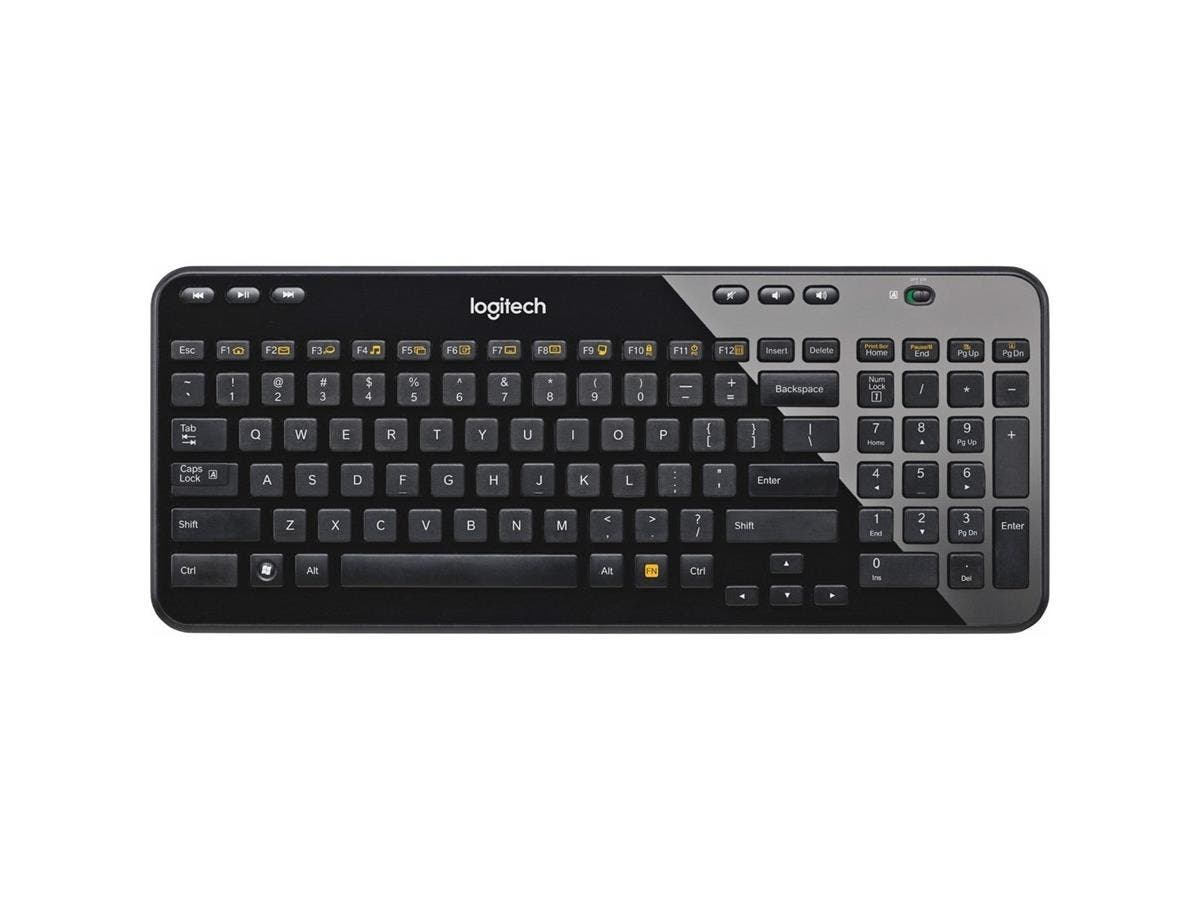 Logitech Wireless Keyboard K360 - Wireless Connectivity - RF - USB Interface - Compatible with Computer (PC) - Email, Play/Pause, Previous Track, Next Track, Volume Control, Mute Hot Key(s) - Black