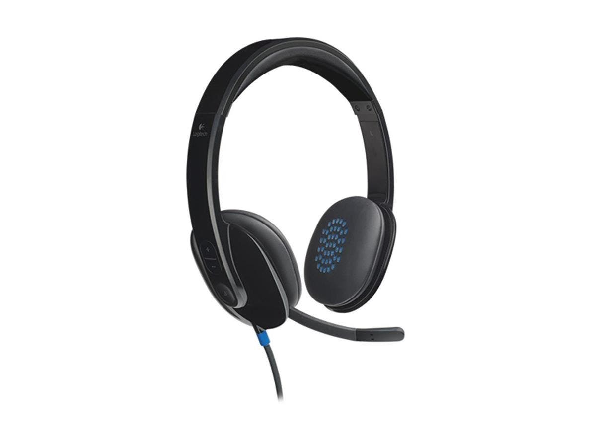 Logitech USB Headset H540 - Stereo - Black - USB - Wired - Over-the-head - Binaural - Semi-open-Large-Image-1