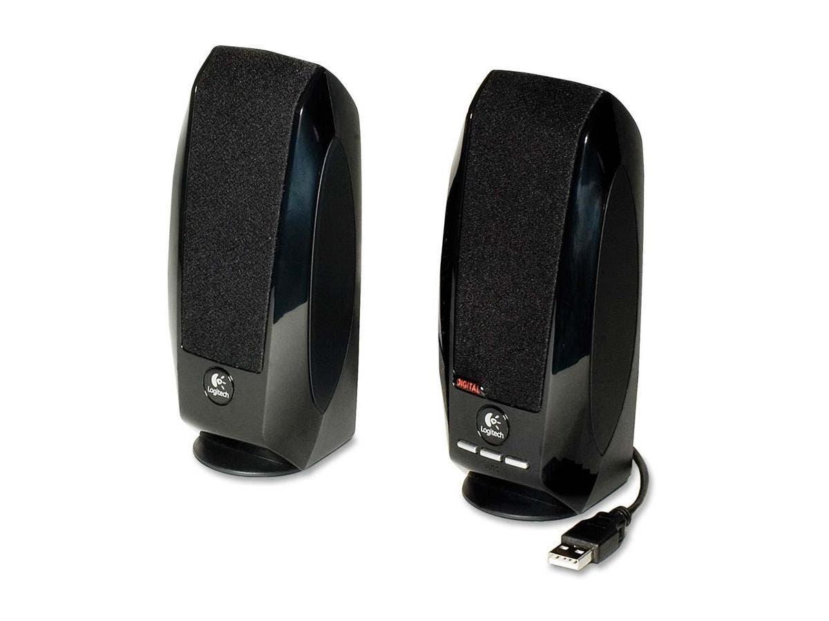 Logitech S-150 2.0 Speaker System - 1.2 W RMS - Black - 90 Hz - 20 kHz - USB