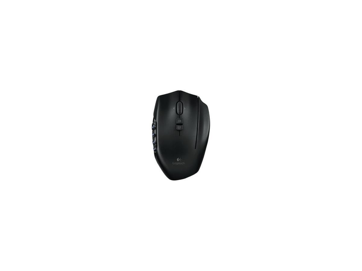 Logitech G600 MMO Gaming Mouse - Laser - Cable - Black - USB - 8200 dpi - Tilt Wheel - 20 Button(s)-Large-Image-1
