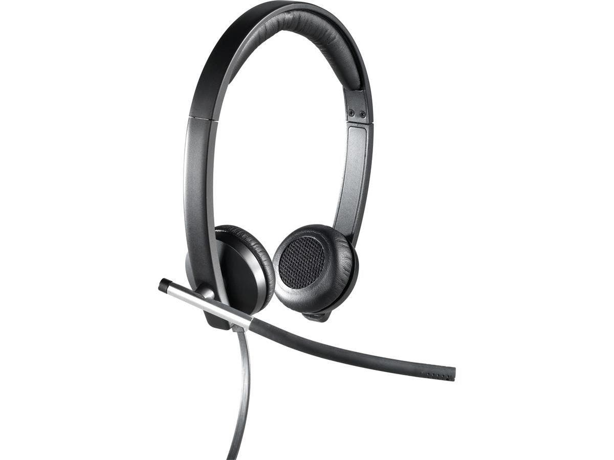 Logitech USB Headset Stereo H650e - Stereo - USB - Wired - 50 Hz - 10 kHz - Over-the-head - Binaural - Supra-aural - Noise Cancelling Microphone-Large-Image-1