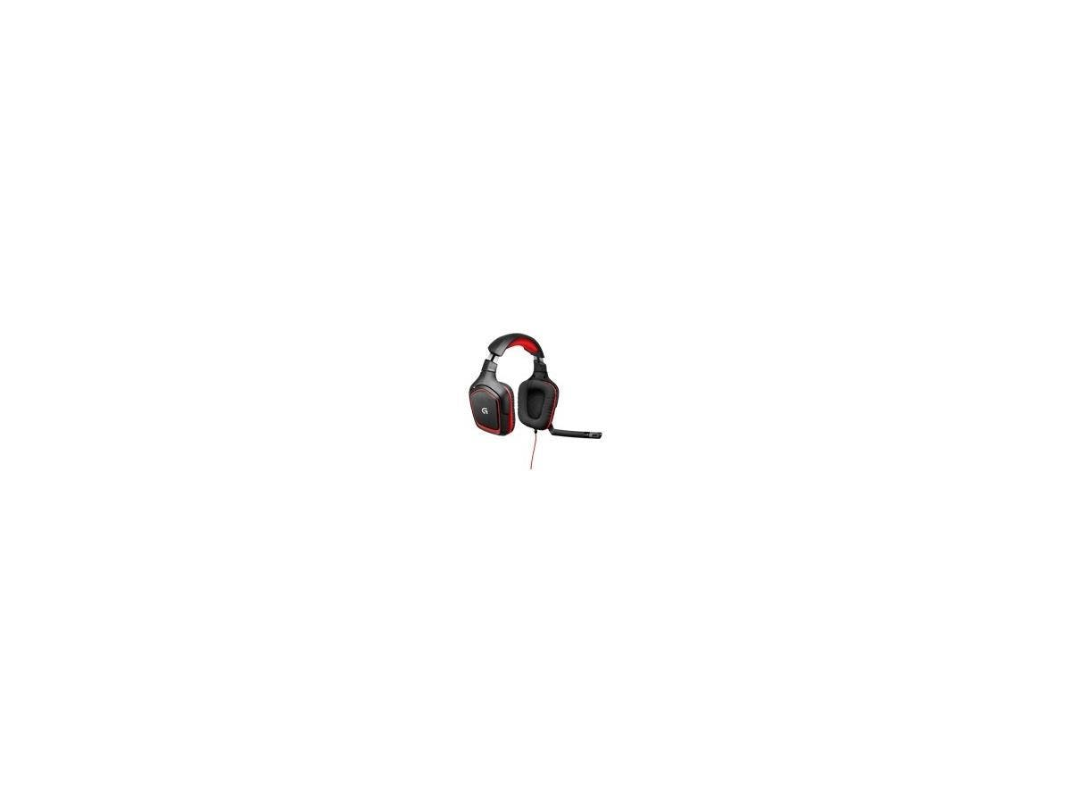 Logitech G230 Stereo Gaming Headset - Stereo - Red - Mini-phone - Wired - 32 Ohm - 20 Hz - 20 kHz - Over-the-head - Binaural - Circumaural - 9.84 ft Cable
