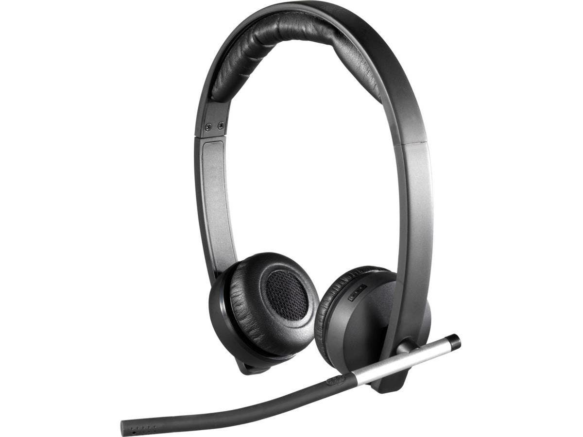 Logitech Wireless Headset H820e - Stereo - Wireless - DECT - 328.1 ft - 150 Hz - 7 kHz - Over-the-head - Binaural - Circumaural - Echo Cancelling, Noise Cancelling Microphone-Large-Image-1