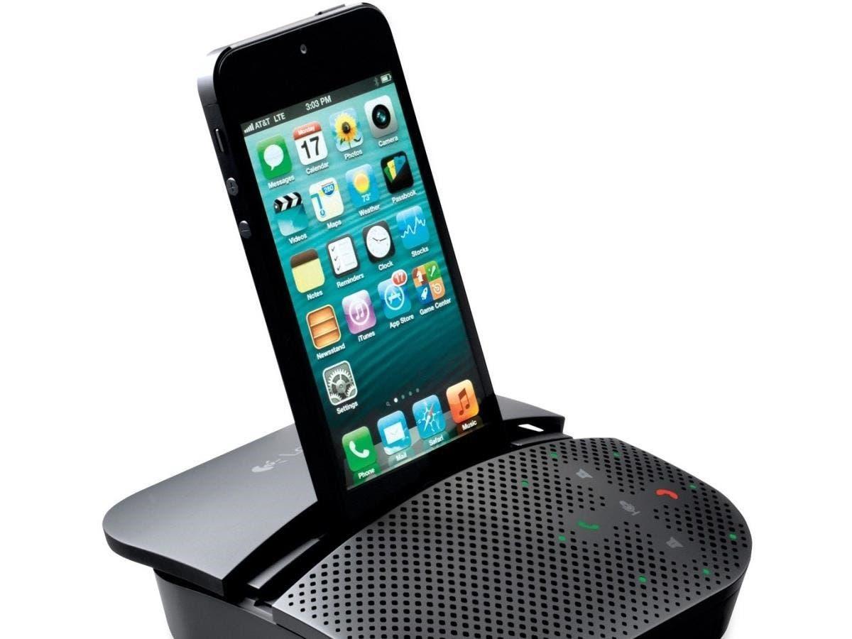 Logitech Mobile Speakerphone P710e - USB - Headphone - Black-Large-Image-1
