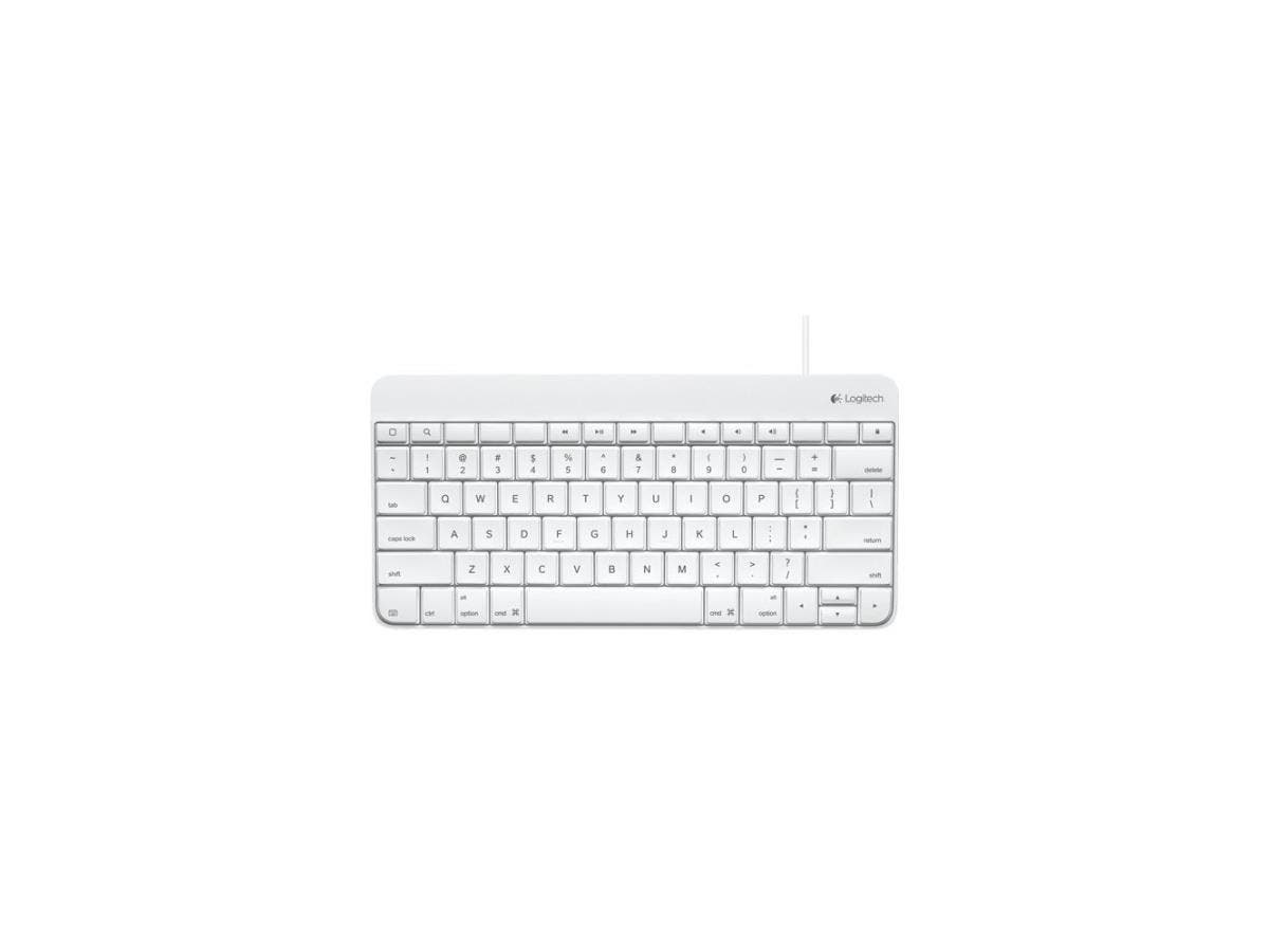 Logitech Keyboard - Cable Connectivity - Lightning Interface - Compatible with Tablet