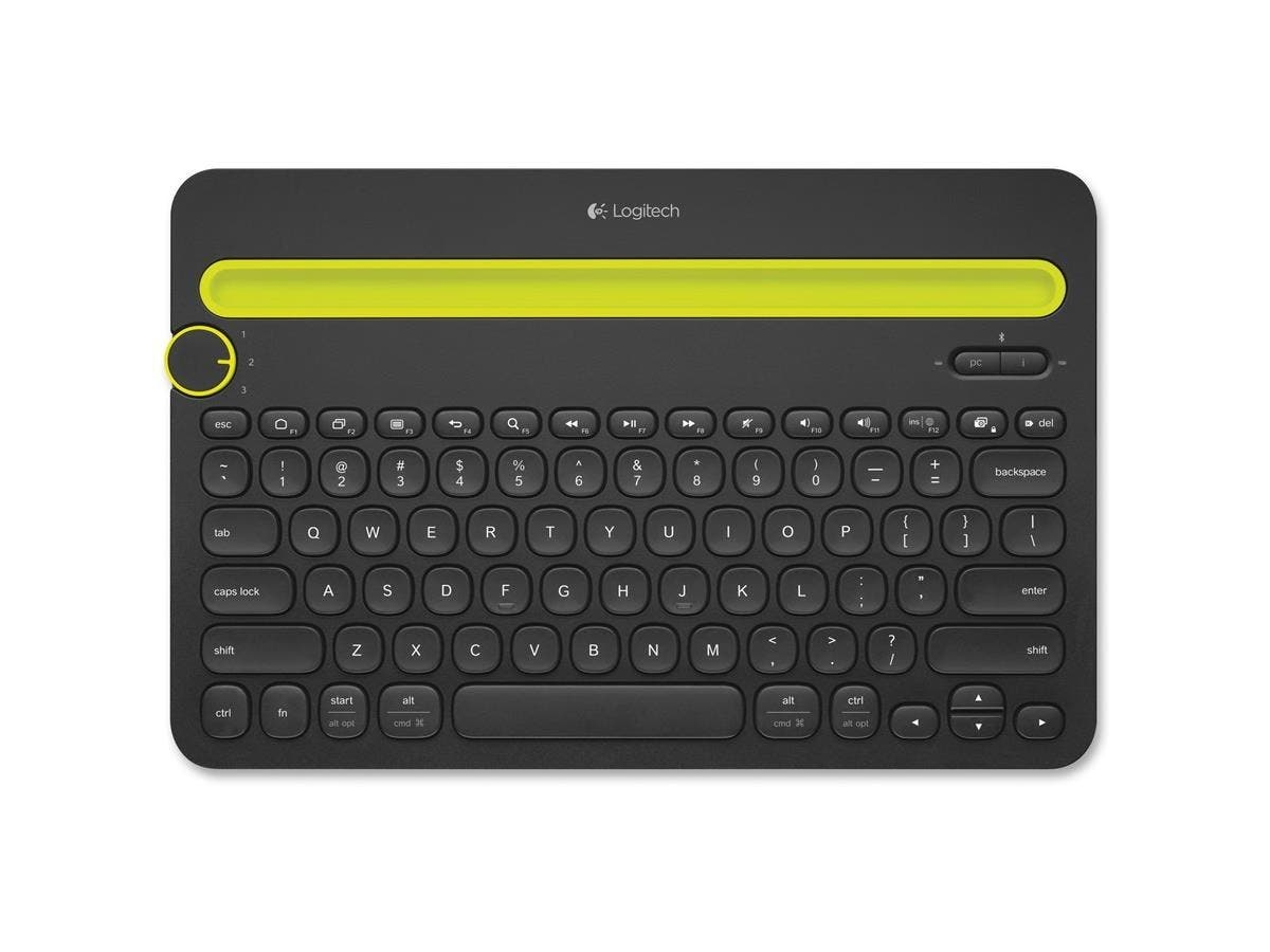 Logitech Bluetooth Multi-Device Keyboard K480 - Wireless Connectivity - Bluetooth - Compatible with Computer, Tablet, Smartphone - QWERTY Keys Layout - Black-Large-Image-1