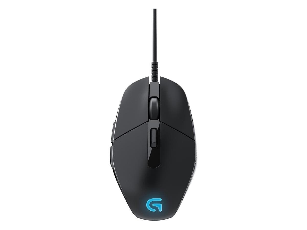 Logitech G302 Daedalus Prime MOBA Gaming Mouse - Delta Zero - Cable - Black, Blue - USB - 4000 dpi - Computer - Scroll Wheel - 6 Button(s) - Right-handed Only